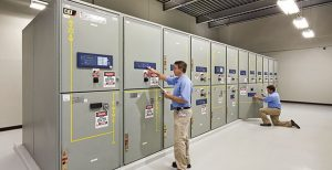Switchgears being tested